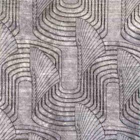 Tissu Casal - Collection Lalique - Argent- 140 cm - Tissus ameublement