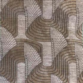 Tissu Casal - Collection Lalique - Taupe - 140 cm - Tissus ameublement