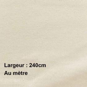 Voilage Polyester M140EC Champagne 240cm, le mètre - Tissus ameublement