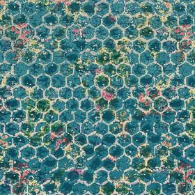 Tissu Casal - Collection Passion - Bleu - 138 cm