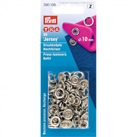 Recharges pour boutons pression sans couture, anneau denté, 10mm - Mercerie
