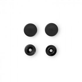 Boutons pression sans couture, noir, 12,4mm