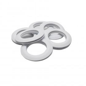 Œillets rideaux à clipser 44 mm par 10 - Blanc Mat