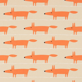 Tissu Scion Collection Guess Who - Mr Fox appliqué - 134 cm - Tissus ameublement