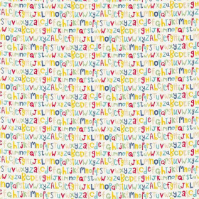 Tissu Scion Collection Guess Who - Letters play - 137 cm