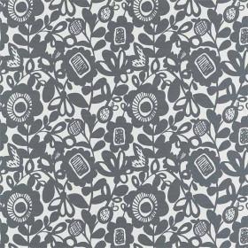 Tissu Scion Collection Pepino - Kukkia Charbon - 139 cm