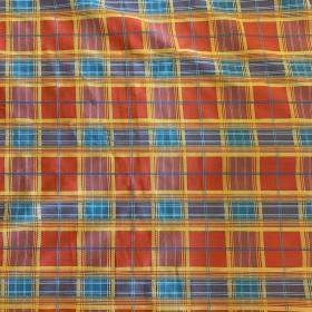 Tissu à carreaux - Multicolores - 137 cm - Tissus ameublement