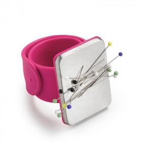 Bracelet pelote épingles, magnétique, fushia, PRYM Love