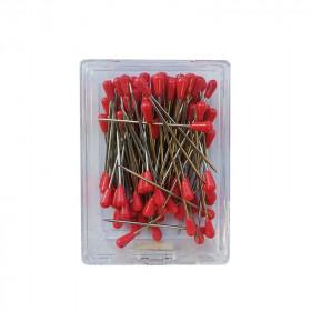 Houzeaux tête plastique Rouge 50 mm - boîte de 100 - Outils tapissier