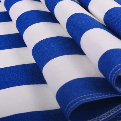 Toile transat - Rayures Bleu Roi/Blanc - 43 cm