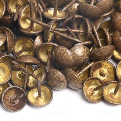 1000 Clous tapissier Bronze Doré Perle Fer 11mm
