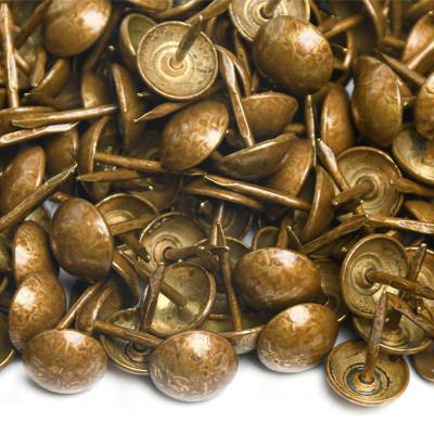 1000 Clous tapissier Vieux Bronze Clair Perle Fer 10,5mm