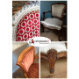 500 Clous tapissier Graphite Perle Fer 16 mm