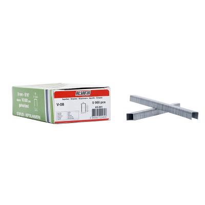 Agrafes Type V-08 ALSAFIX pour agrafeuse pneumatique - Par 5000