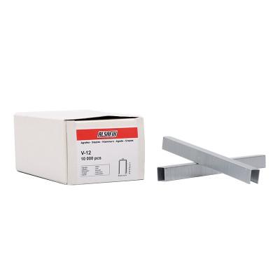 Agrafes Type V-12 ALSAFIX pour agrafeuse pneumatique - Par 10000