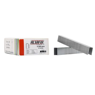 Agrafes Type V-16 ALSAFIX pour agrafeuse pneumatique - Par 10000
