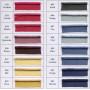 Câblé 12 mm - les unis 52 coloris - le mètre