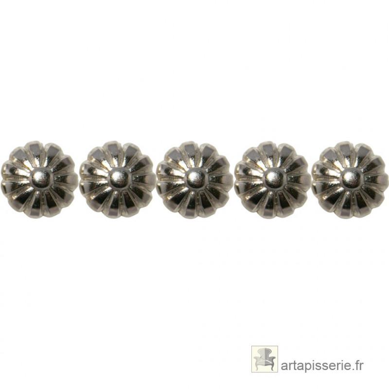 PROMO Clous décoratifs Marguerite, Nickelé 16 mm - Clous tapissier
