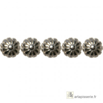 1000 Clous décoratifs Marguerite Nickelé 16 mm