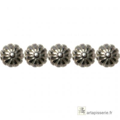 1000 Clous décoratifs Marguerite, Nickelé 12 mm - Clous tapissier