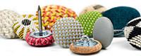 Boutons recouverts du tissu de votre choix - Bouton à recouvrir