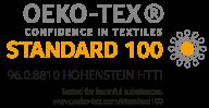 Certificat Oeko Tex standard 100 fils ONYX;