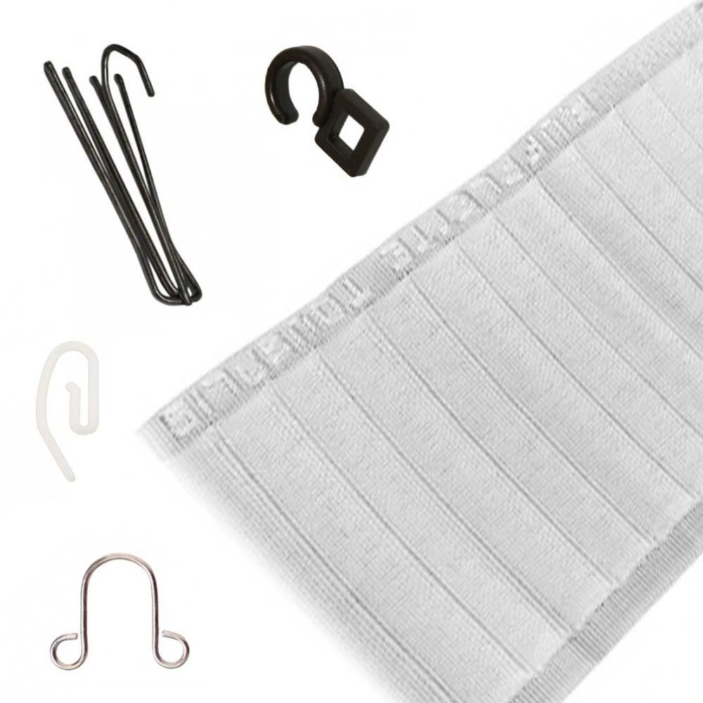 Accessoires rideaux : Ruban fronceur, Agrafes, et Crochets